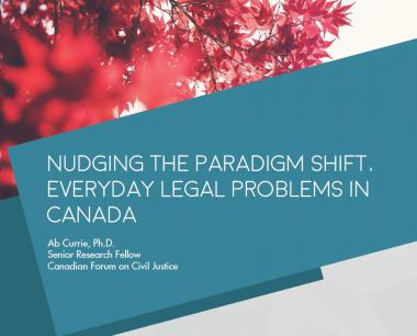 Nudging the Paradigm Shift