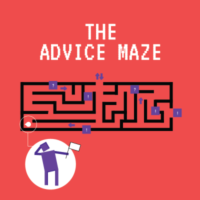 The advise maze infographic