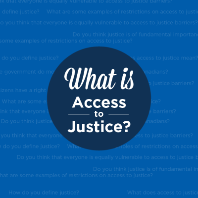 What is access to justice infographic