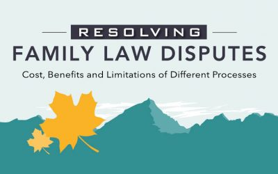 Resolving Family Law Disputes infographic